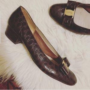 Salvatore Ferragamo croc heels